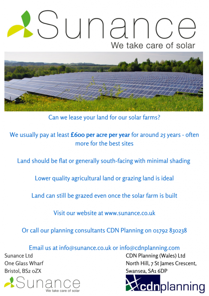 Can we lease your land for  our solar (1)